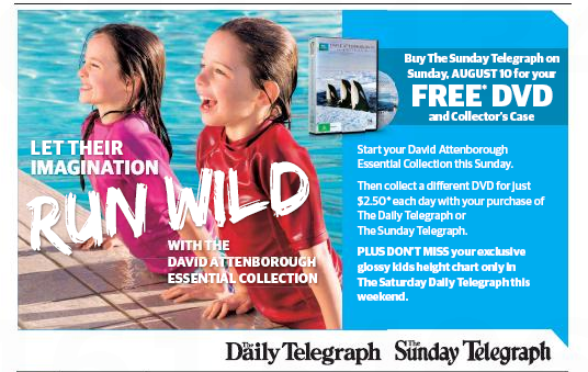 ToasTees Ad in Manly Daily