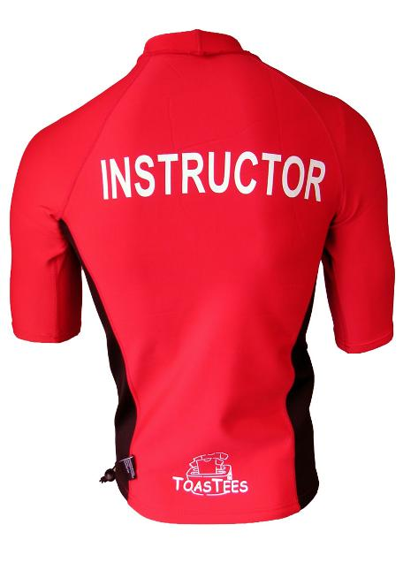 Men's Ocean Series Red Black Short Sleeve with Instructor Logo