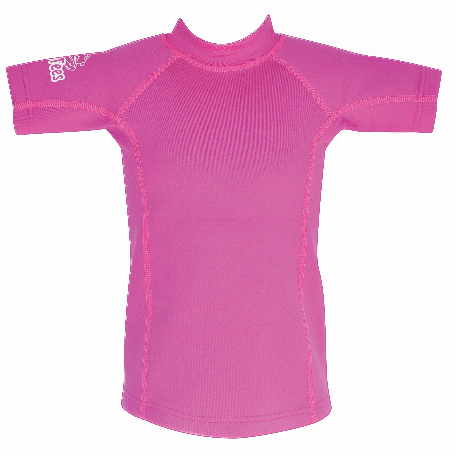 Regular Size kids top Pink. Short Zip in neck.
