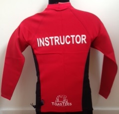 Men's Ocean Series Red Black Long Sleeve with Instructor Logo