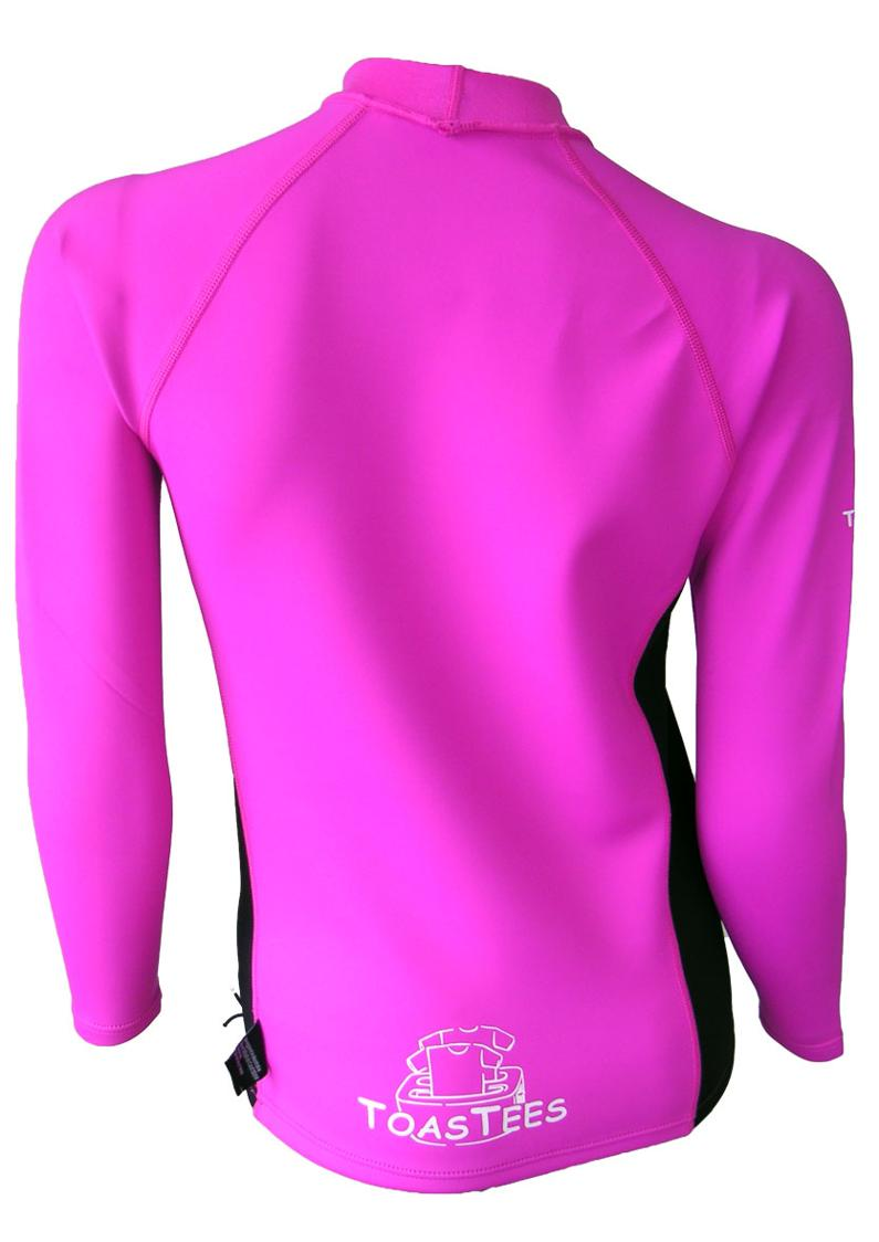 Women's Ocean Series Pink Black Long Sleeve
